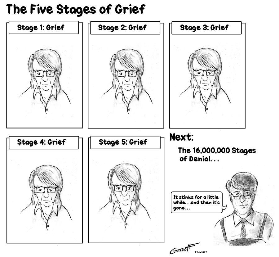 essay on the stages of grief The seven stages of grieving 5 pages 1198 words august 2015 saved essays save your essays here so you can locate them quickly.